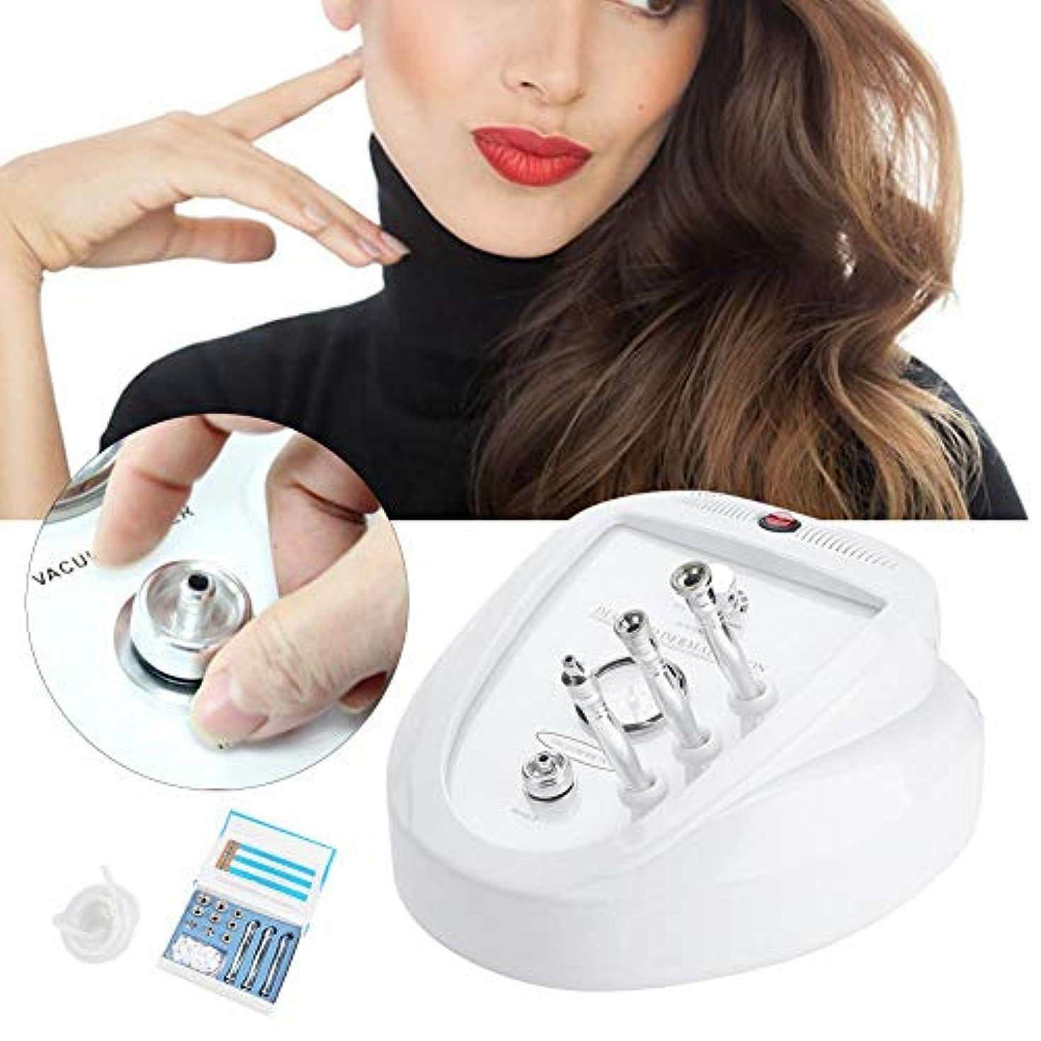 ポルトガル語テンポ珍しい3 in 1ダイヤモンド皮膚剥離機、肌の若返り装置、フェイスリフティングマイクロマッサージエクスフォリエーター用プロのサロン&家庭用ディープクレンジングホワイトニングスキンピーリングシワ削除