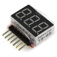 バッテリー電圧チェッカー 1-6Cell Li-Po&Li-Fe用 3915-S