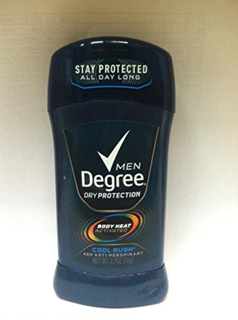 褒賞ポルノ通信するディグリー Degree 固形 メンズ デオドラント クールラッシュ メンソールの香り 制汗剤 85g [並行輸入品]