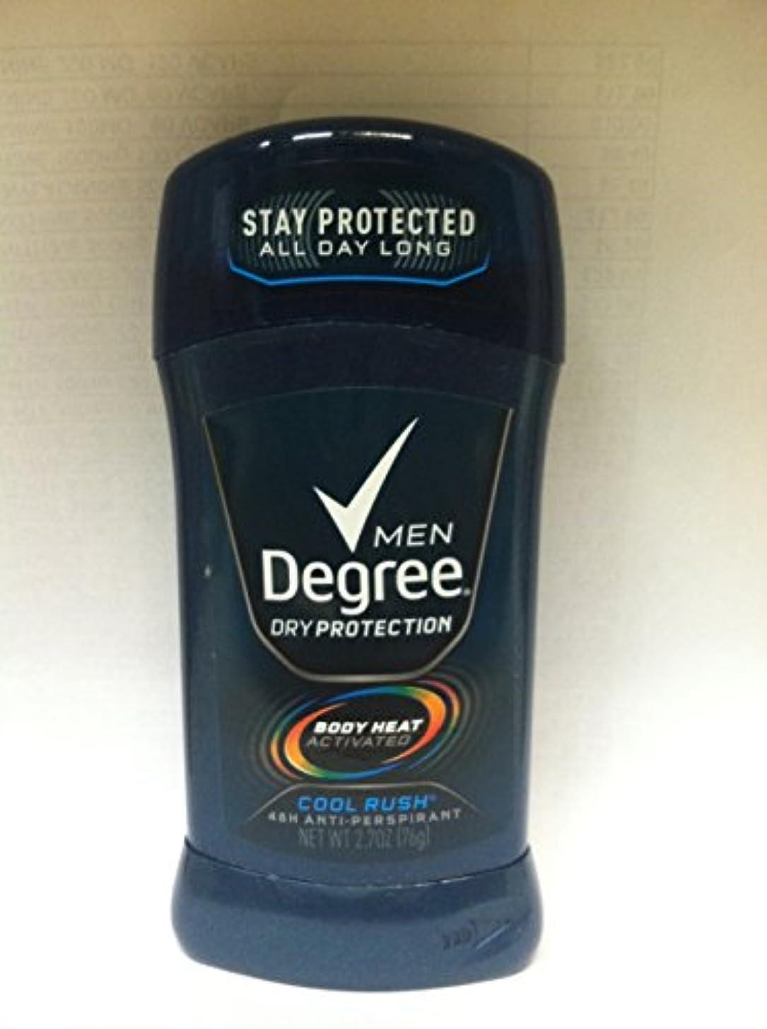 十分動機瞑想的ディグリー Degree 固形 メンズ デオドラント クールラッシュ メンソールの香り 制汗剤 85g