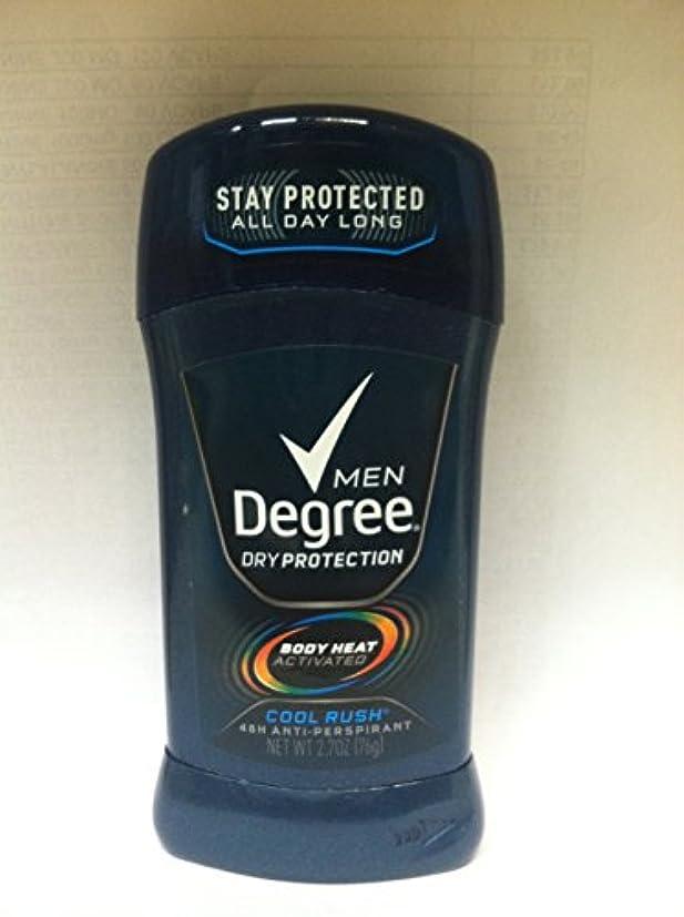 バター暴力的なハシーディグリー Degree 固形 メンズ デオドラント クールラッシュ メンソールの香り 制汗剤 85g