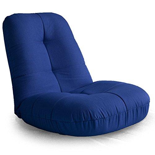 タンスのゲン 座椅子 ポケットコイル あぐら座椅子 リクライニング コンパクト 布地 幅60cm ブルー 15210040 02 【51987】