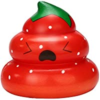 Gobao スクイッシー おもちゃ キュート Yummy Fruit Poo ゆっくり元に戻る クリームの香り付き ストレス解消 誕生日 クリスマス 友人 ギフト マルチカラー Gobao
