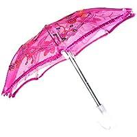SONONIA 18インチ アメリカガールドール人形用 アクセサリー スパンコール 花傘 6色 - ローズレッド