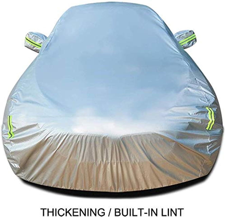 スーダン接辞ブーストCRRQQ メルセデスAMG CLA 45フルカバレッジカーカバー全天候型屋外防水?防塵UVプロテクションと互換性のカーカバー (Color : Silver)