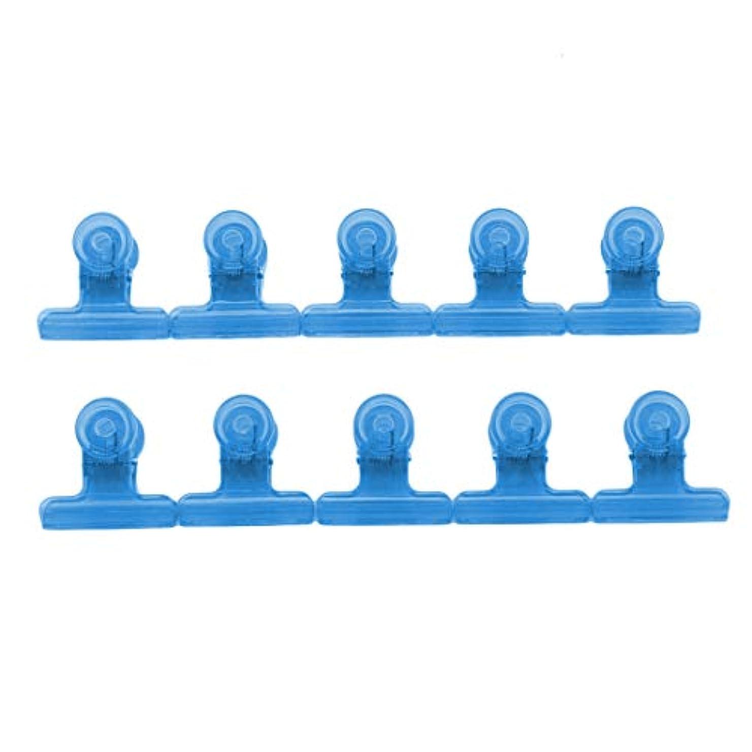 ブラインドおもしろいアラブサラボKLUMA ネイルアートクリップ ネイルクリップ ネイルプロテクター ネイルアートツール 滑り止め 再利用可能 10個セット ブルー