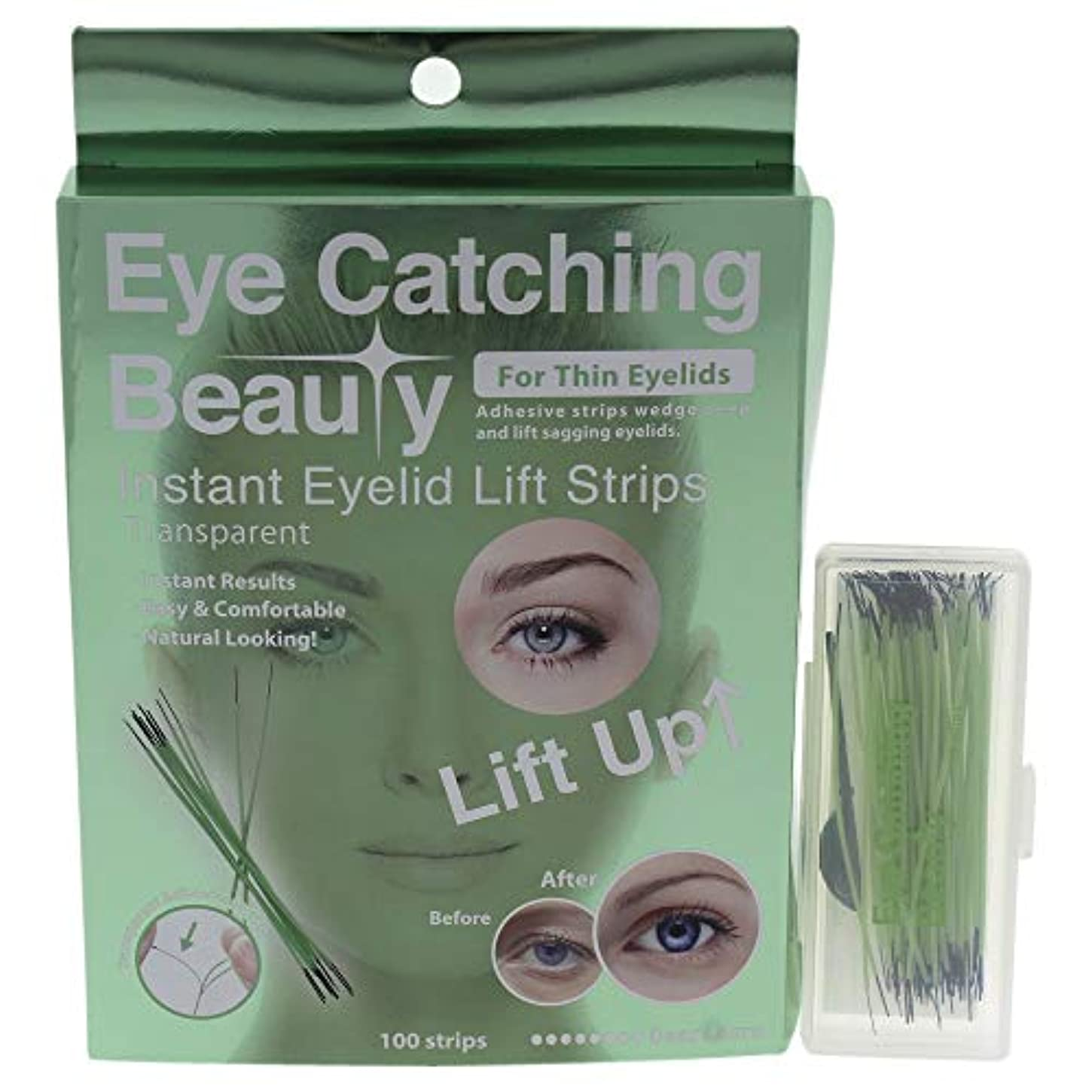 解放するボイドストローEye Catching Beauty Instant Eyelid Lift Strips