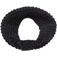 Lehao冬暖かい耳のニットヘッドバンドターバン女性レディースかぎ針編みの弓の結び目ソフトストレッチヘアバンドヘッドラップガールズヘアアクセサリー、黒