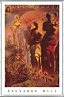 ポスター サルバドール ダリ Hallucinogenic Toreador 額装品 アルミ製ベーシックフレーム(シルバー)