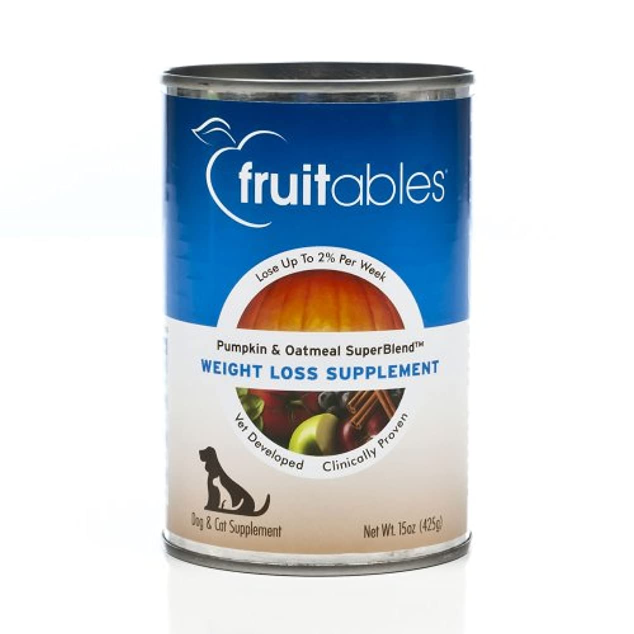 仕える適格急いでFruitable All Natural Weight Loss Pumpkin Oatmeal Dog Cat Canned Supplement 15z