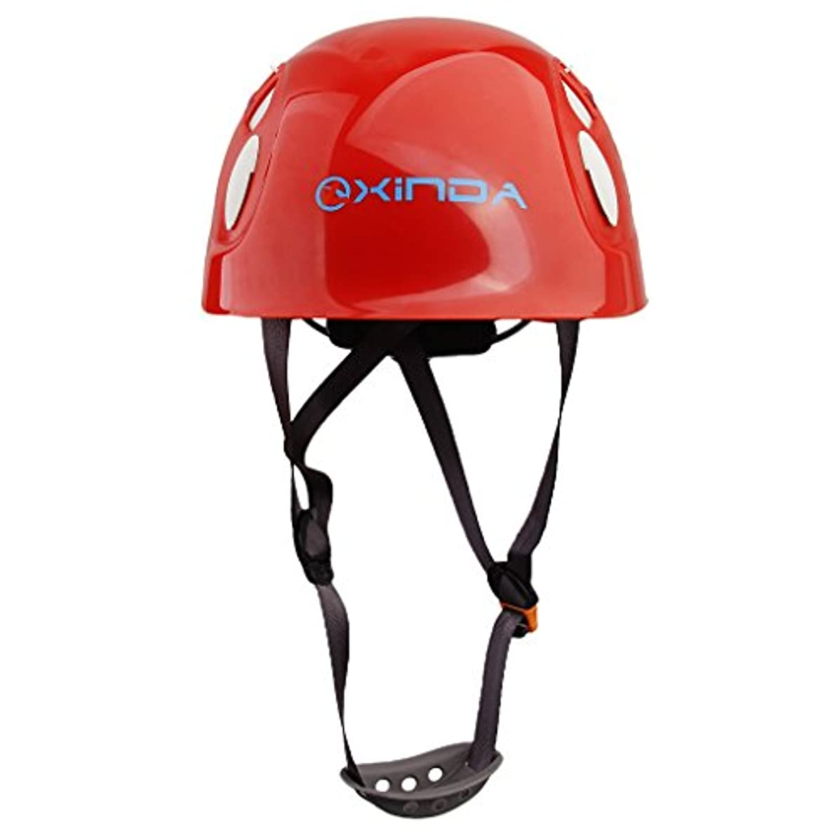 押すピニオン初心者【ノーブランド 品】ヘルメット 保護 懸垂下降 アウトドア 登山 ヘルメット 安全装置 赤