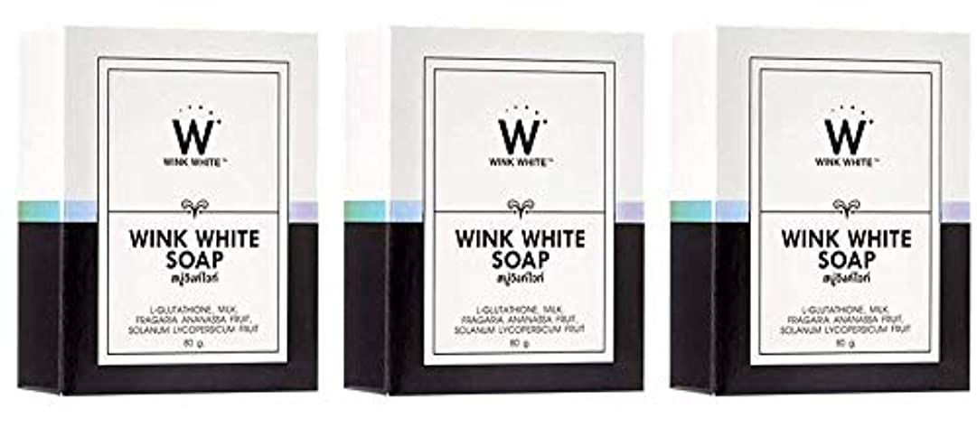 組み込む先祖アッティカスGluta Pure Soap Wink White Whitening Body 80 Grams by Wink White