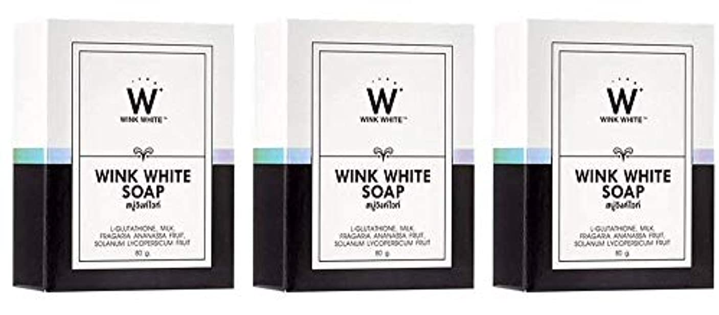 砂の舗装する登山家Gluta Pure Soap Wink White Whitening Body 80 Grams by Wink White