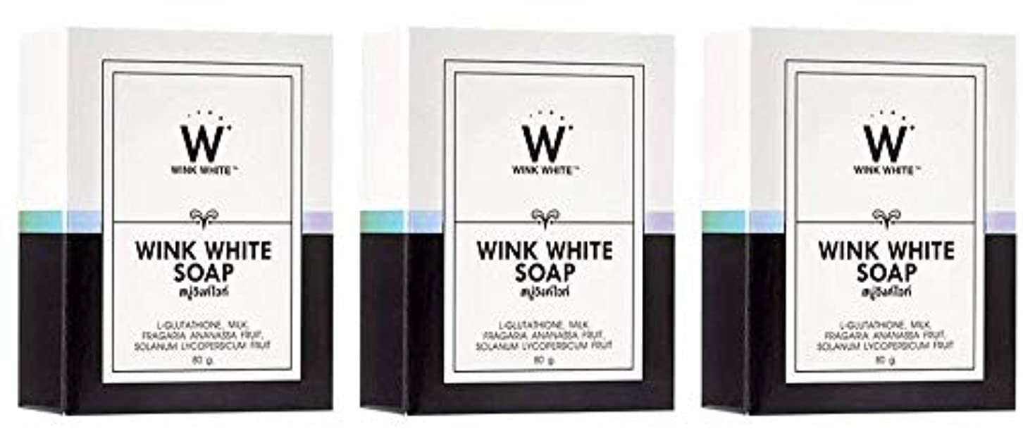 振動させるジョグ透けるGluta Pure Soap Wink White Whitening Body 80 Grams by Wink White