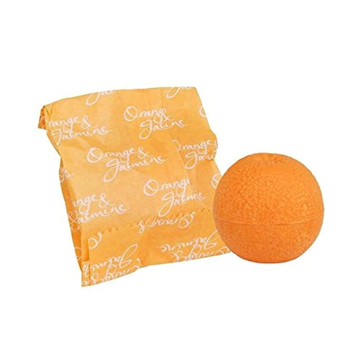 めったにスクラブチロオレンジ&ジャスミン石鹸100グラム x2 - Bronnley Orange & Jasmine Soap 100g (Pack of 2) [並行輸入品]