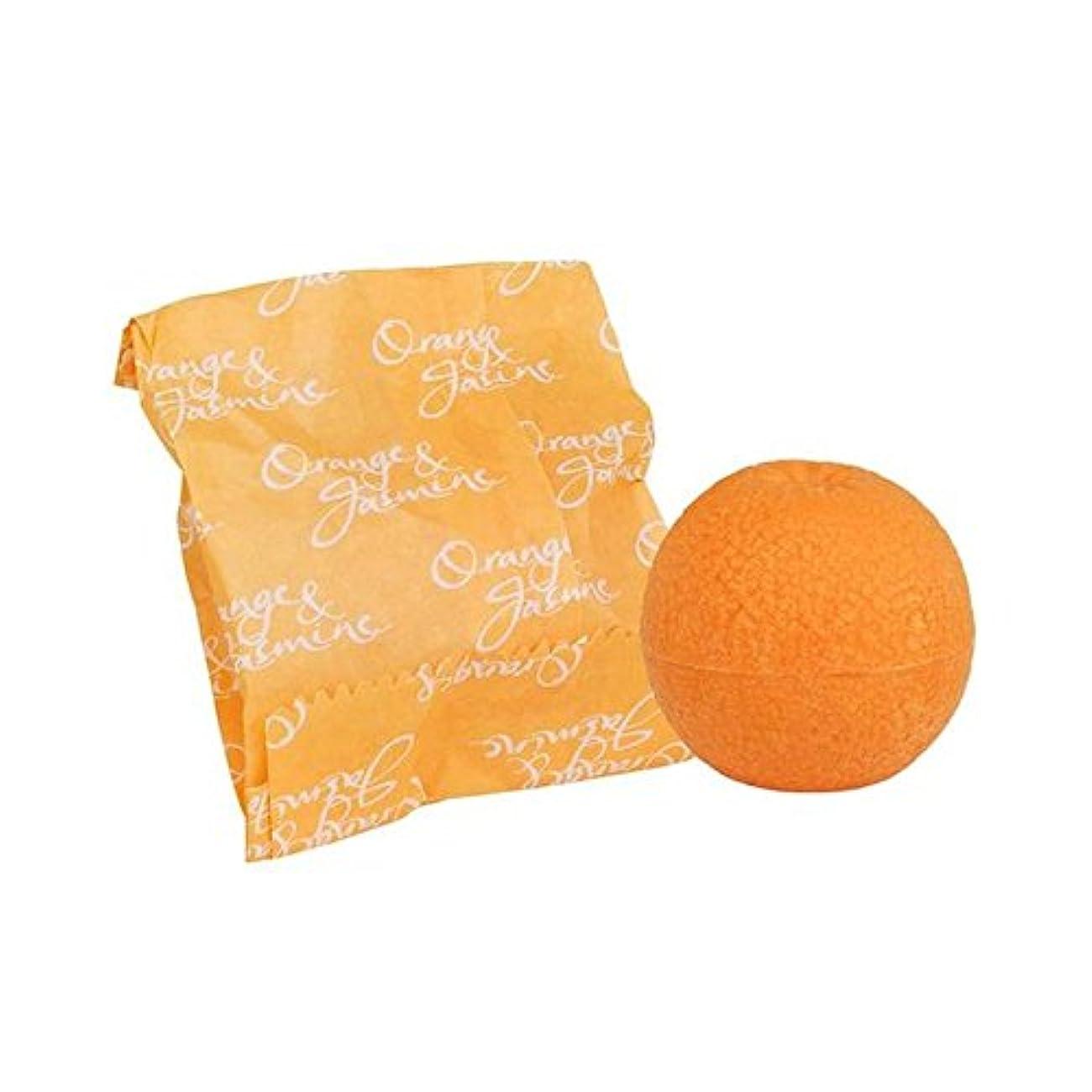 前置詞バブルピアノオレンジ&ジャスミン石鹸100グラム x4 - Bronnley Orange & Jasmine Soap 100g (Pack of 4) [並行輸入品]