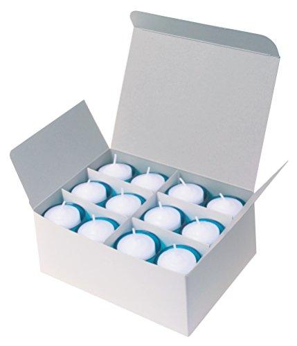 カメヤマキャンドルハウス クリアのキャンドルホルダーが気分で色を楽しめるカラークリアカップボーティブキャンドル 大きめの炎6H (1箱24個入)  ブルー 燃焼時間約7時間