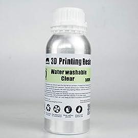 3Dプリンター用水洗いレジンです。 アルコール洗浄が不要で、水洗いでベタベタ感が無くなります! 基本的にほぼ全ての光造形3Dプリンターで使用可能です。 Anycubic Photon、Flashforge Hunter、Phrozen、Duplicator 7、Bean3D等に対応。