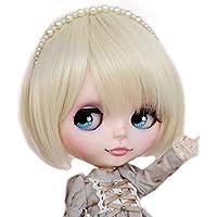 (ドーリア)Dollia ドール用ウィッグ ブライス ウィッグ ショート バング シャンパンゴールド アシンメトリー アレンジ  フェザーボブ 高温ワイヤー かわいい カツラ 髪 ネオブライス