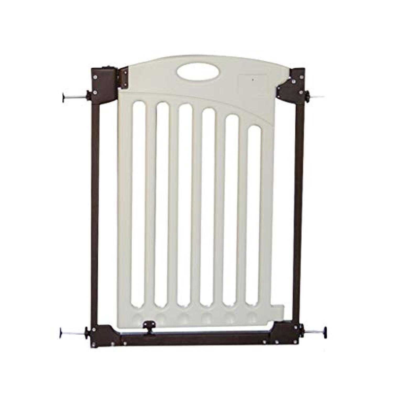 保護フェンスホームセキュリティゲートベビーフェンス階段バリアペット犬フェンス隔離ドア (Color : 白, Size : 84cm)