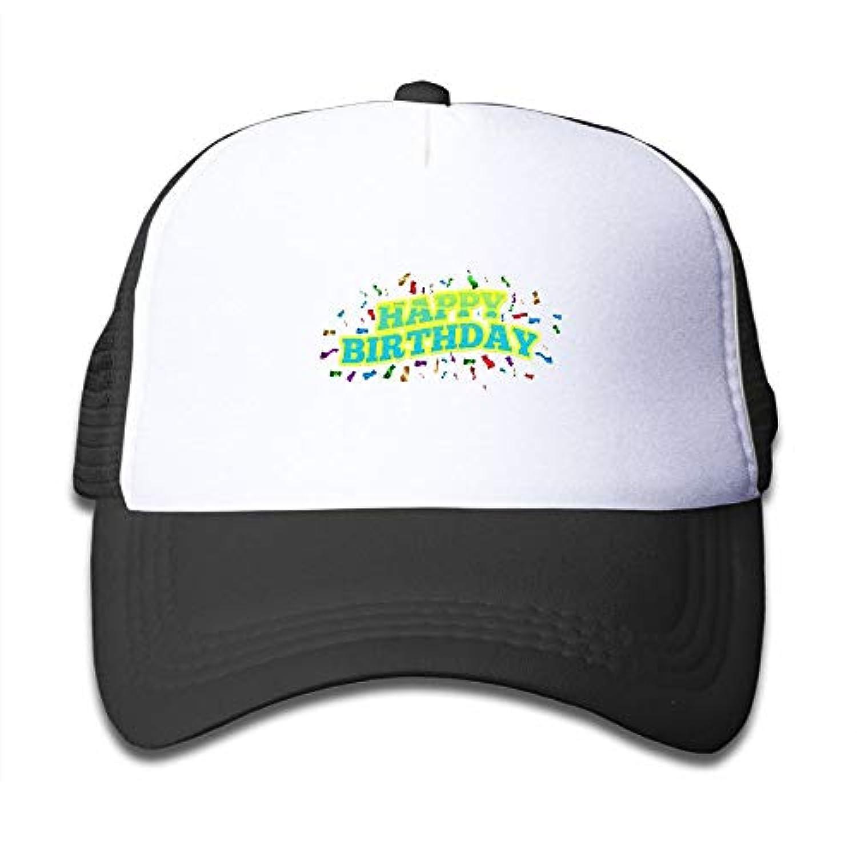 カラー ハッピー バースデー 素敵 かわいい おもしろい ファッション 派手 メッシュキャップ 子ども ハット 耐久性 帽子 通学 スポーツ
