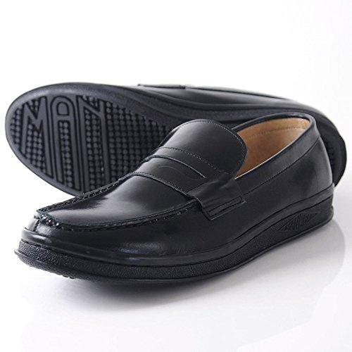 [マネブ] MANEBU 革靴 ボボ VOVO FACE SKIN MNB-002B ローファー ペニーローファー スリッポン スケートシューズ (42(27cm), ブラック)