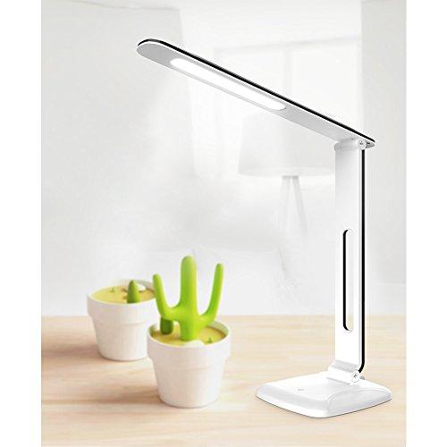 ELOKI 読書灯 眼に優しいLEDデスクライト タッチセンサーで3段調光可 180度回転 USB充電対応 実用点灯16時間以上