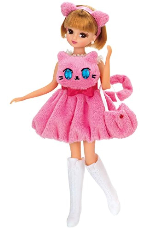 リカちゃん ドレス おめめがキラキラ☆ピンクネコドレス