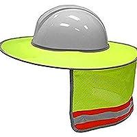 upperx 建設安全性ハードハットネックシールドヘルメットサンシェード反射性ストライプキット(イエロー)