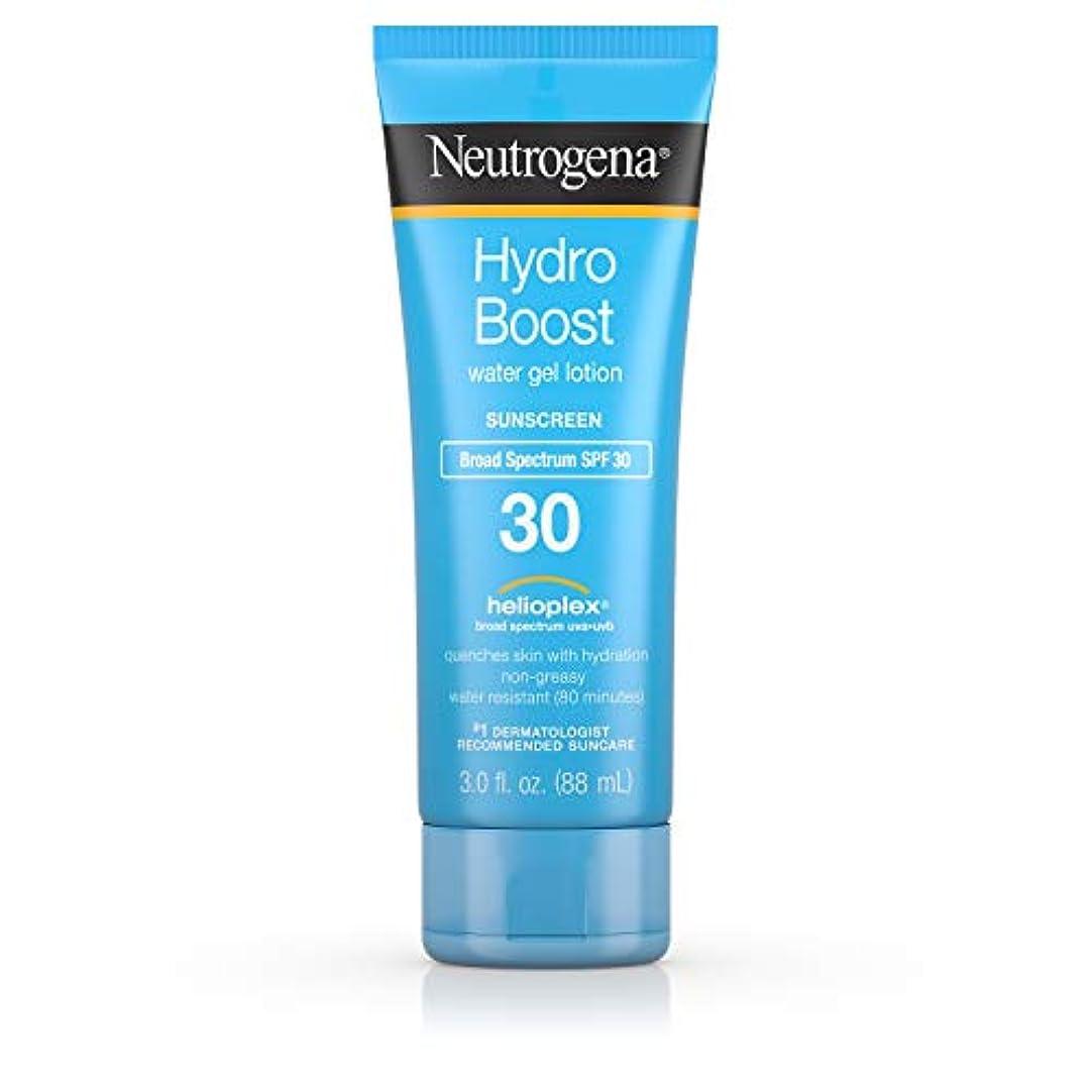 Neutrogena ハイドロは、広域スペクトルSPF 30、耐水性、3フロリダ水ゲルべたつかない保湿日焼け止めローションを後押し。オズ