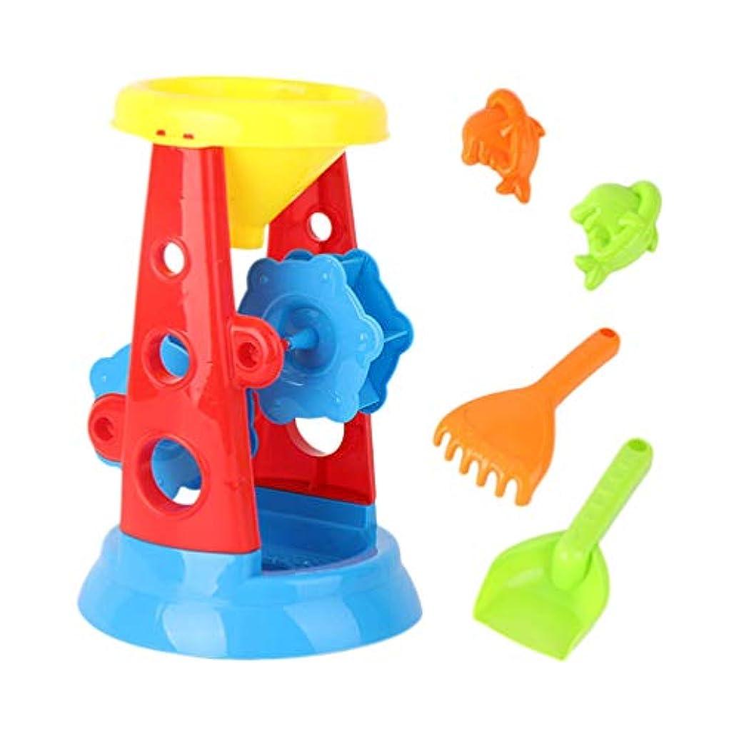 まさに早熟ジャーナルTOYANDONA 5本の砂のビーチのおもちゃセットカニの砂時計と漏斗の砂と水のおもちゃ屋外で遊ぶビーチの子供たち