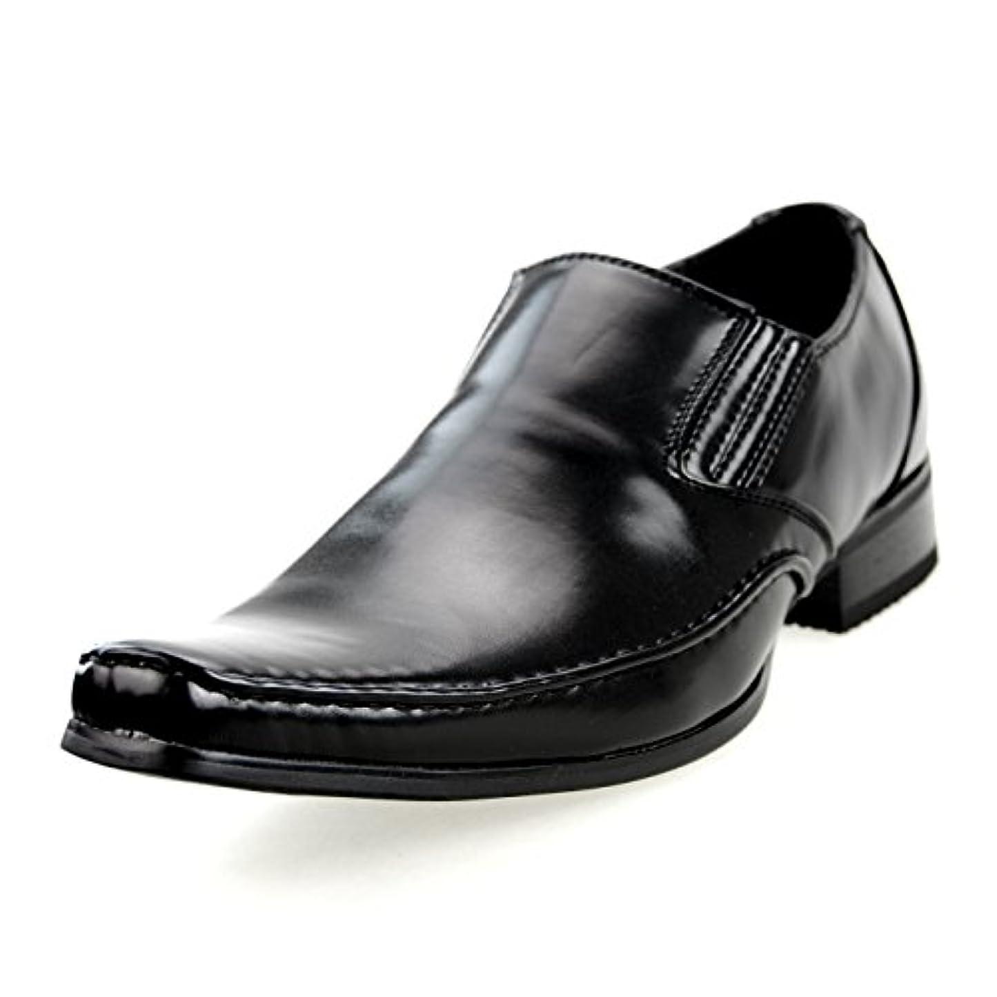 間隔決済偶然[エムエムワン] MM/ONE ビジネスシューズ メンズ ビジネス シューズ 靴 紳士靴 レースアップ フェイクレザー 【ZNX24B】 全3色 ブラック ブラウン ダークブラウン