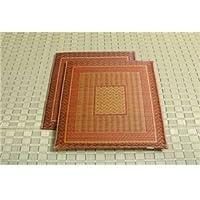 【日本製】純国産/日本製 袋織 千鳥い草座布団 『ランクス 2枚組』 ベージュ 約55×55cm×2P