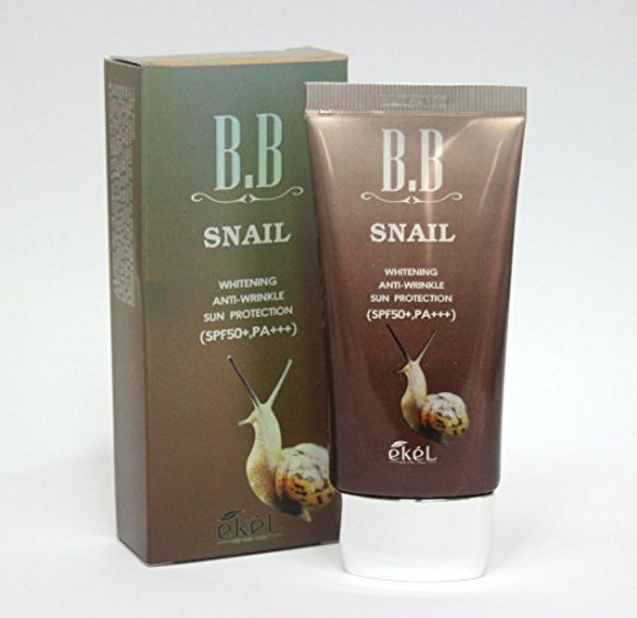 リブ効能粘着性[Ekel] カタツムリBBクリーム50ml / ホワイトニング , SPF50 + PA +++ / 韓国化粧品 / Snail BB Cream 50ml / Whitening, SPF50+ PA+++ / Korea...