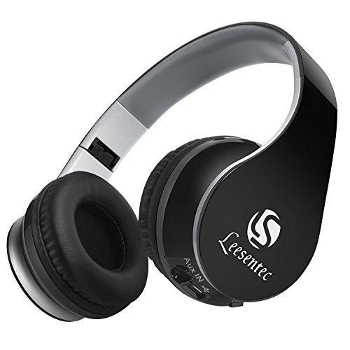 Leesentec Bluetoothヘッドフォン ワイヤレスヘッドセット PCヘッドフォン Bluetooth4.0 折り畳み ステレオ高音質 ノイズキャンセル スマートフォン/タブレットPC /ノート PCなど対応