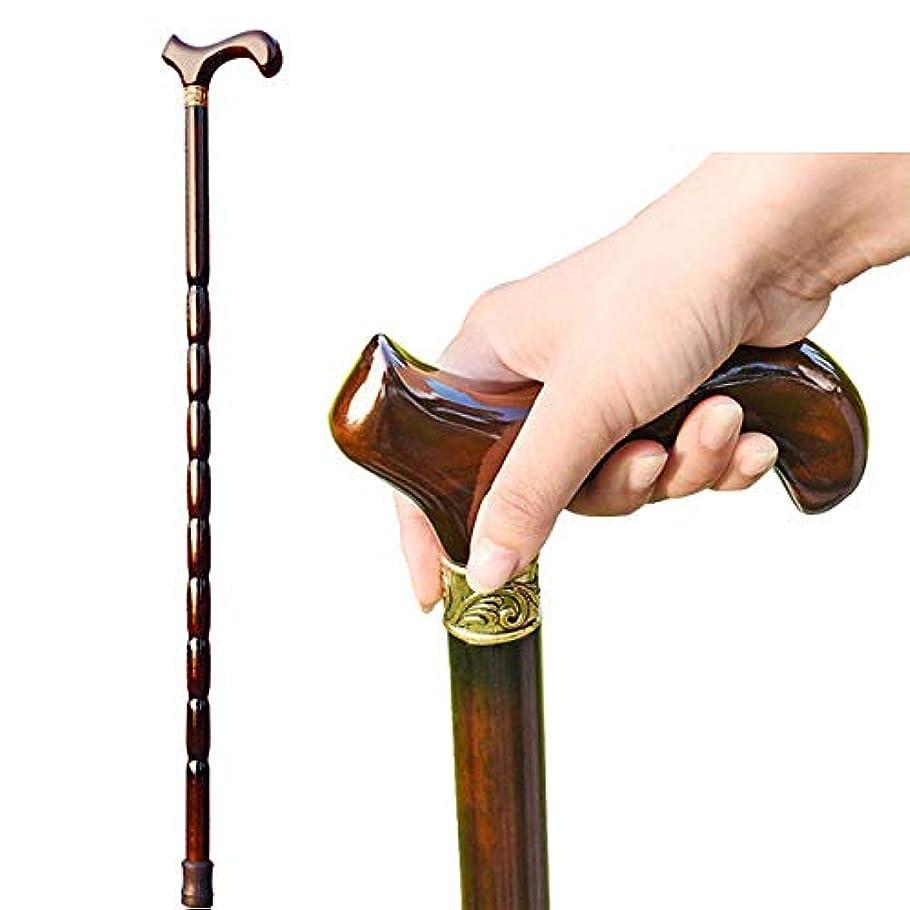掘る受賞損なう高齢者の滑り止めの杖木製の松葉杖松葉杖は男性と女性の手の松葉杖の丈夫で安定した茶色のギフト用杖として