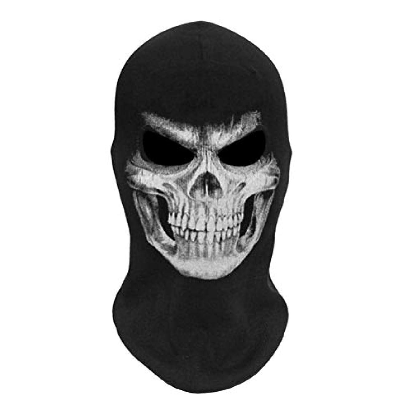 角度パンダ路地TAIPPAN ハロウィン3Dスケルトンマスク怖いスケルトンバラクラバゴーストコスプレ衣装ハロウィンパーティーフルフェイスマスク