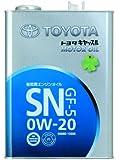 TOYOTA [ トヨタ純正オイル ] トヨタキヤッスル [ MOTOR OIL ] 4L [ 新規格 ] [ SN/GF-5 ] 0W-20 [ 鉱物油 ]  [HTRC 3]
