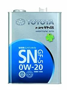 TOYOTA エンジンオイル キヤッスル SN/GF-5 0W-20 鉱物油 4L [HTRC3]