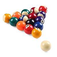 Nishore子供ビリヤードテーブルボールセット 25cm/ 32cm/ 38cm 樹脂 小さなプールキューボールフルセット