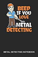 Metal Detecting Notebook: Dotted Log Book For Treasure Hunter: Metal Detecting Journal | Beep If You Love Gift