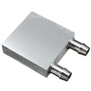 Cikuso 初級アルミニウム合金水冷却ブロック40x40mm 液体水冷式ヒートシンク?システム?シルバー用 PCラップトップCPU用