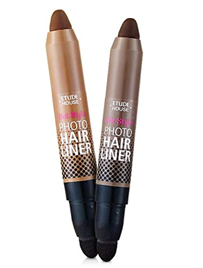 衝突氏お嬢ETUDE HOUSE Hot Style Photo Hair Liner (# Dark Brown) エチュードハウス ホットスタイルフォトヘアライナー [並行輸入品]