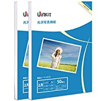 2L判 写真用紙 光沢 インクジェット専用 - 超きれい 写真 2L判 サイズ 100枚 厚手0.28mm Uinkit