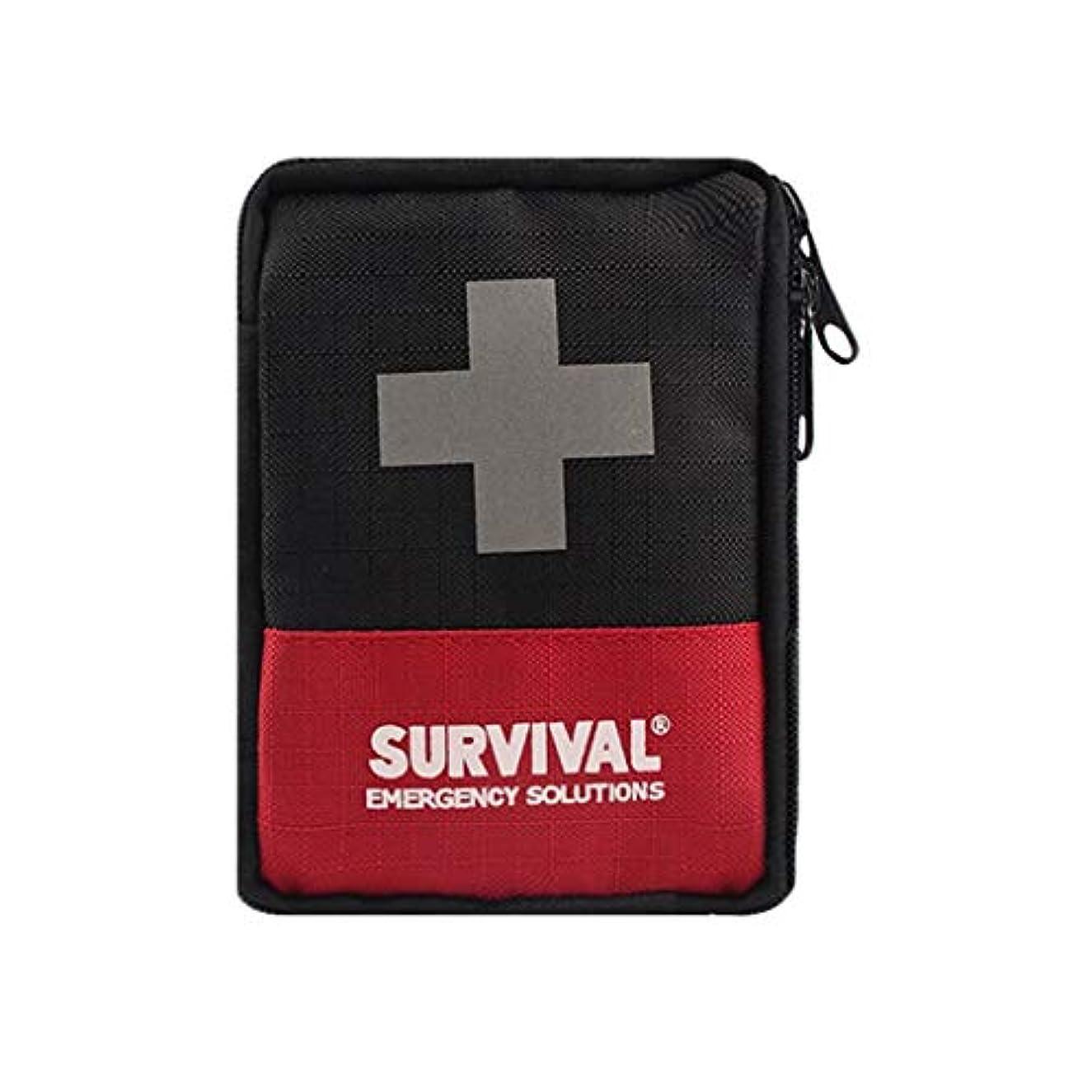 襲撃講義ホステスXJLXX ポータブル応急処置キット、家族用アウトドアメディシンバッグ、レッドウエストバッグ 医療箱