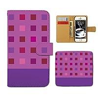 スマホケース 手帳型 SC-02L Galaxy Feel2 和洋パターン 手帳 ケース カバー 幾何学模様 ブロック パターン D0251030104905