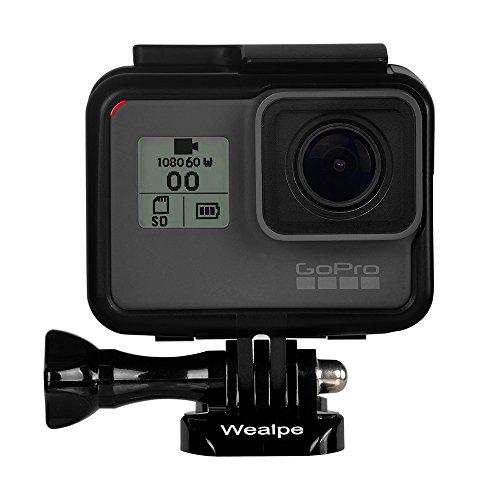 Wealpe GoPro Hero 5 Black専用 保護フレーム シリコンレンズカバー ハウジング型 ネイキッドフレームマウント+レンズ保護カバー