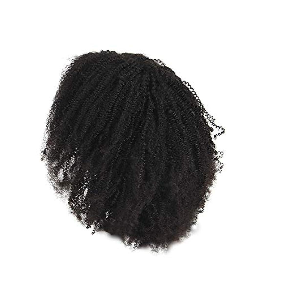 ナチュラルバルーン第四かつらレース化学繊維爆発ヘッド小体積短い髪かつらの前に