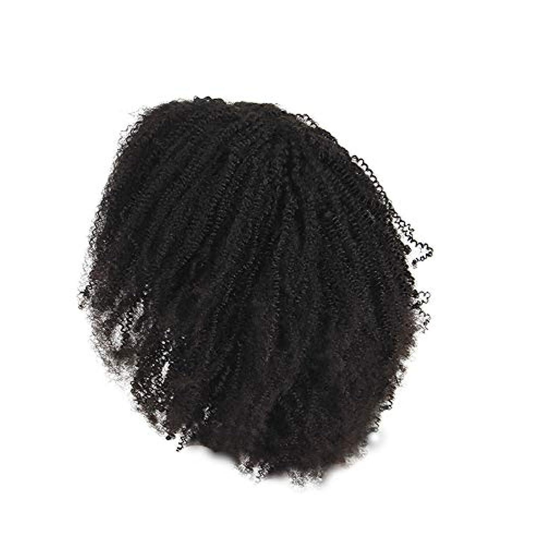 木曜日風変わりな販売員かつらレース化学繊維爆発ヘッド小体積短い髪かつらの前に