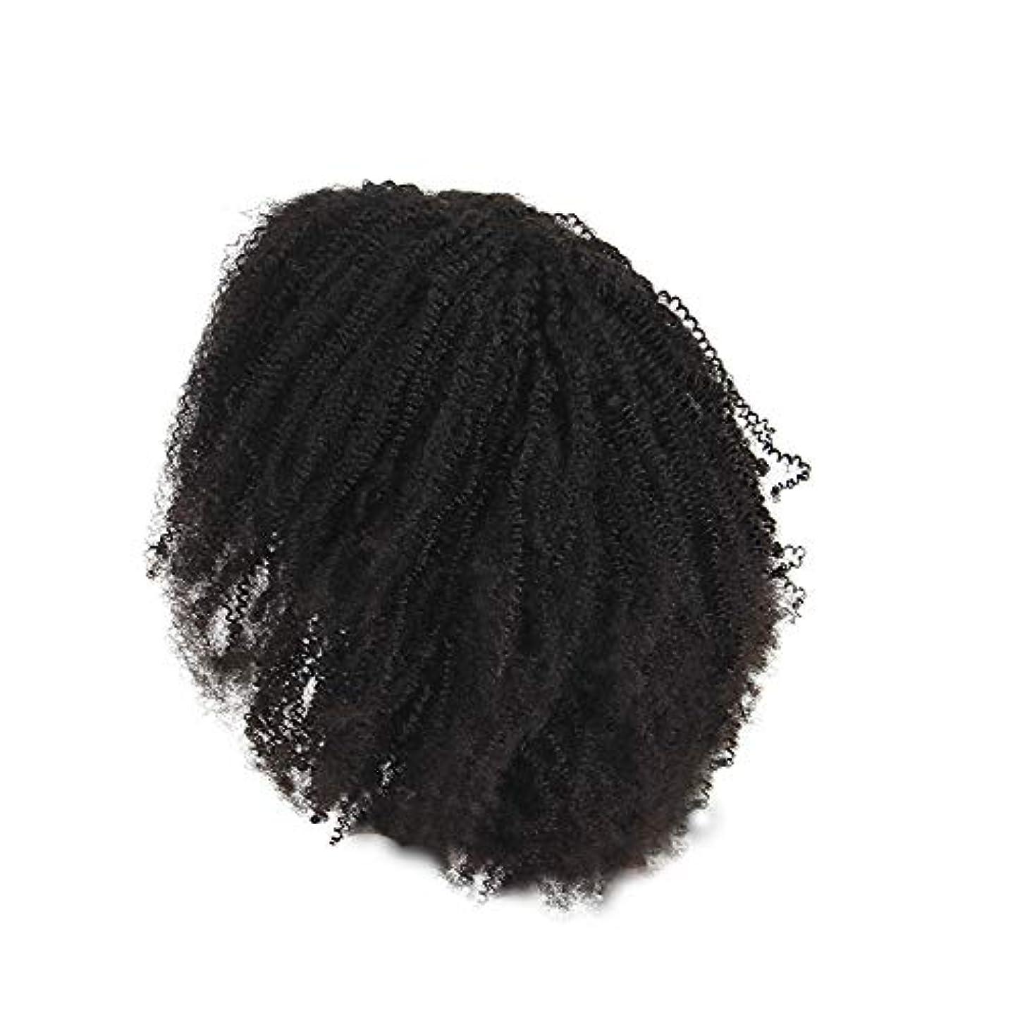 雄弁なタックとは異なりかつらレース化学繊維爆発ヘッド小体積短い髪かつらの前に